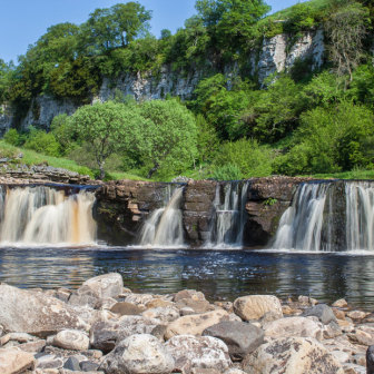 Wainwath Falls - a waterfall on the River Swale, Yorkshire